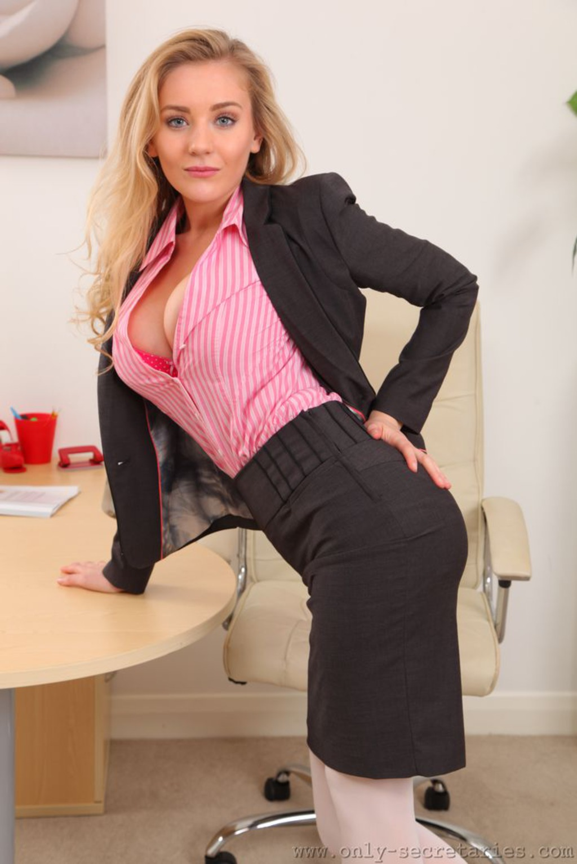 Busty Blonde Secretary